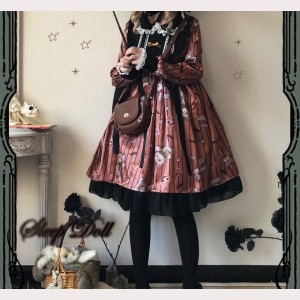 Pumpkin Bear Lolita Style Dress (HA61)