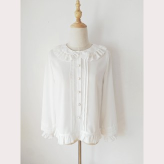 Orchid Lane Puff Sleeve Classic Lolita Style Blouse (OL10)