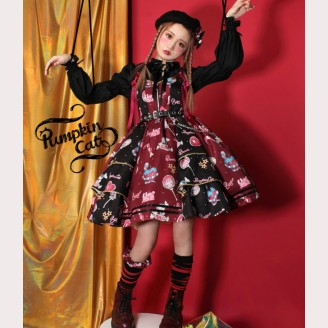Pumpkin Cat Creepy Sugar Lolita Style Dress JSK / SK (PC01)