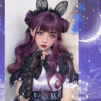 Luna Purple Double Bun Gradient Lolita Wig (PG04)