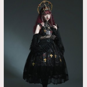 Therealm Of Skeleton Dance Gothic Lolita Full Set (SH01)