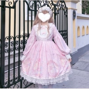 Kitty Manor Sweet Lolita Style Dress OP (WS01)