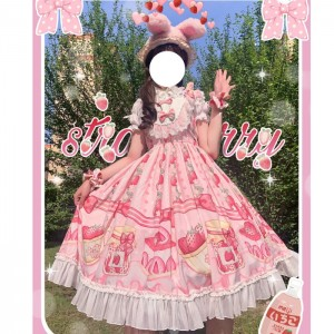 Strawberry Cake Lolita Style Dress JSK (WS08)