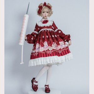 Nurse bear sweet lolita dress OP by OCELOT (OT01)