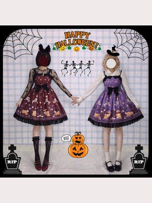 Happy Halloween Vampire Cat Lolita Style Dress JSK (HA01)