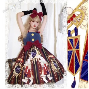 Circus Rabbit Lolita Style Dress JSK & KC Set (HA03)