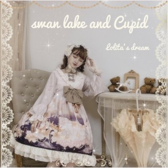 Swan Lake And Cupid Lolita Style Dress OP (FB69)