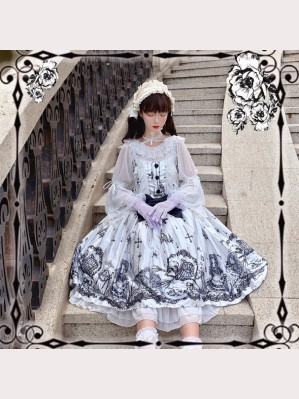 Tomb Prisoner Gothic Lolita Style Dress JSK (HA08)