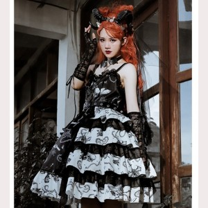 The Vampire Diaries Gothic Lolita Style Dress JSK (HA09)