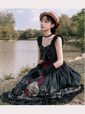 The Nightingale And The Rose Gothic Lolita Dress JSK by withpuji (HA10)