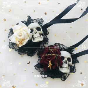 Rose & Skull Lolita Eye Patch (HA16)