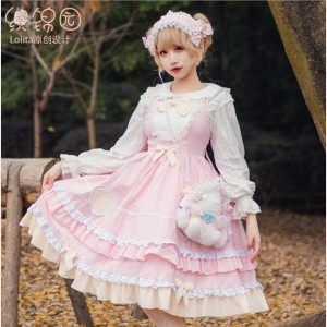 Little Pudding Sweet Lolita Style Dress JSK (HA32)