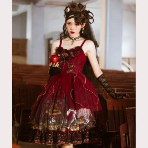 Halloween Gothic Lolita Style Dress JSK (Plus Size & Custom Size Available) (HA36)