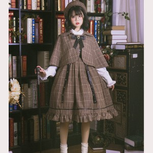 Little Detective Lolita Style Dress JSK & Cloak (HA40)