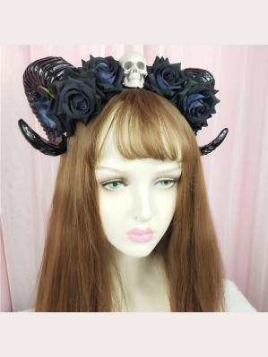 Halloween Crossbones Sheep Horns Lolita Style KC (HA45)
