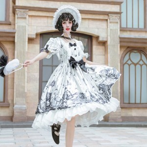 Tomb Prisoner Gothic Lolita Style Dress OP (HA55)
