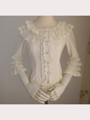 Orchid Lane Three-Quarter Sleeve Lolita Blouse (OL11)