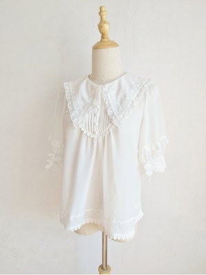 Orchid Lane Puff Short Sleeve Lolita Blouse (OL14)