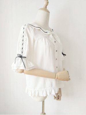 Orchid Lane Bowknot Ruffle Sleeve Lolita Blouse (OL17)