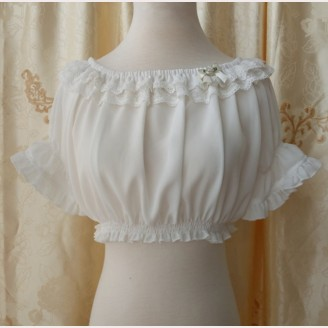 Orchid Lane Lace Chiffon Lolita Top (OL22)