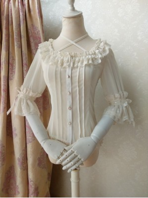 Orchid Lane Mid-Sleeves Chiffon Classic Lolita Blouse (OL5)