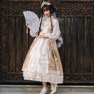 Mucha Classic Lolita dress JSK & Blouse by Souffle Song (SS1012)