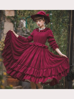 Little Women Vintage Lolita dress OP by Souffle Song (SS1015)