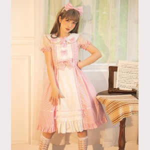 Magic Tea Party Sweet Classic Plaid Lolita Dress OP (MP70)