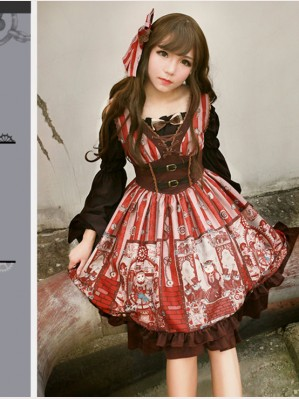 Souffle Song Alchemist Cat Lolita dress JSK (SS915)