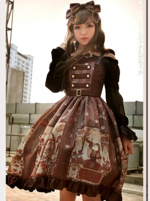 Souffle Song Alchemist Cat Lolita dress JSK (SS916)