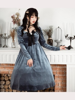 Souffle Song Lily's Kiss Velvet Lolita dress OP (SS926)
