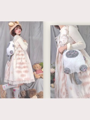Souffle Song Fluffy Kitten 2 Ways Lolita Handbag (SS928)