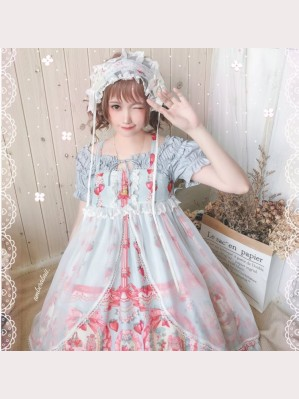 Souffle Song Strawberry Rabbit Lolita Dress 4pc outfit (SS931)