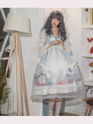 Souffle Song X Rumi & Runi Day Dream Sweet Lolita Dress OP (SS938)
