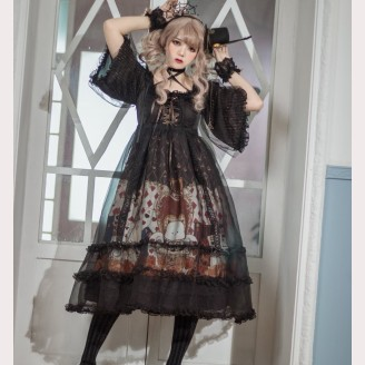 Souffle Song X Rumi & Runi Nightmare Sweet Lolita Dress OP (SS939)
