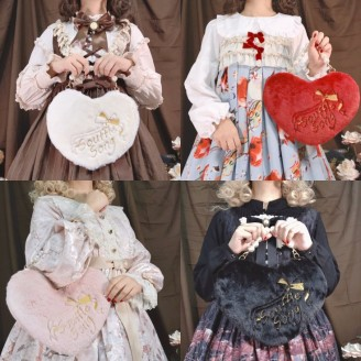 Souffle Song Heart Shaped 2 Ways Lolita Handbag (SS941)