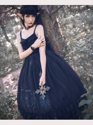 Souffle Song Dancing With Dead Gothic Lolita Dress JSK (SS943)
