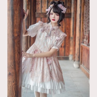 Souffle Song Green Plum Qi Lolita Dress OP (SS947)
