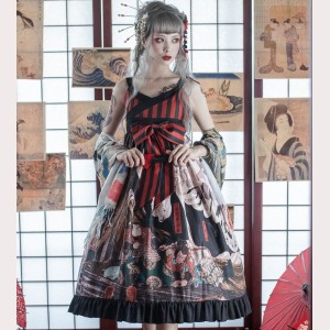 Souffle Song Utagawa Kuniyoshi Japanese Lolita Dress Set (SS950)