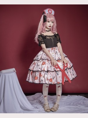 Souffle Song Needles&Tears&Band-Aid Lolita dress JSK (SS904)