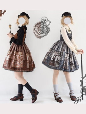Souffle Song Steampunk Cat Lolita dress JSK (SS906)