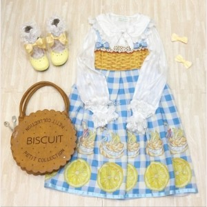 Lemon Swan Puff Lolita Style Dress OP (FB72)