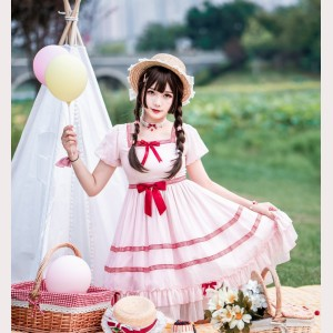 Souffle Song Vintage Sweet Lolita Dress OP (SS1005)