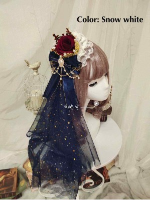 Handmade Rose & Crown Classic Lolita Hair Accessory (BD01)