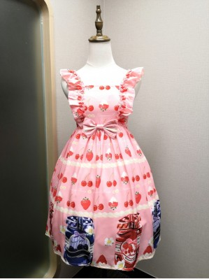 Clearance Sale! Diamond Honey Blue Berry Cans Sweet Lolita Dress (Size S) (CS024)