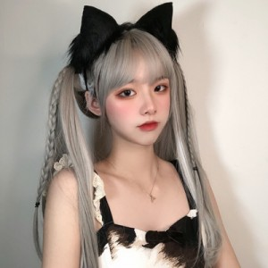 Fluffy Cat Ears Hair Clips / Headband KC (MD01)