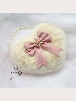 Heart Shaped Fluffy Sweet Lolita Handbag (LG02)
