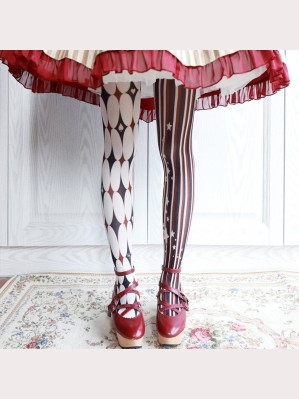 Ruby Rabbit The Clown Lolita Style Tights (RR02)