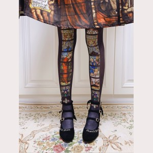 Ruby Rabbit Stained Glass Windows Lolita Style Tights (RR03)