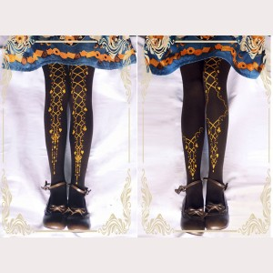 Ruby Rabbit Ribbon Poker Gothic Lolita Style Tights (RR12)